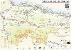 Mapa del Oriente de Asturias